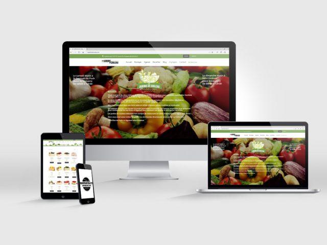 création de site internet Les jardins de Couleau
