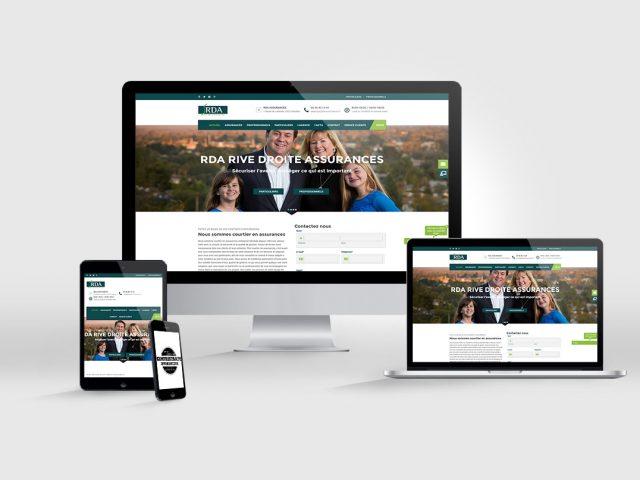 création de site internet RDA assurance