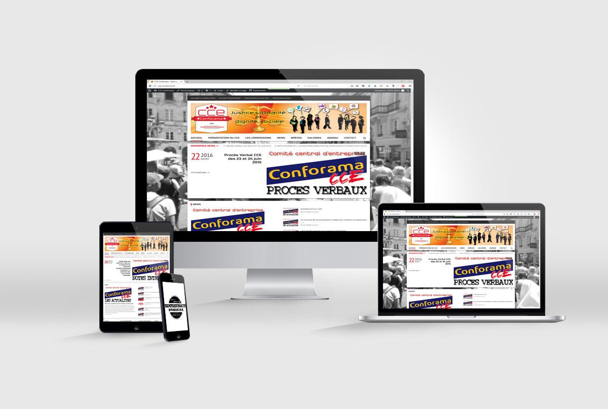 création de site internet CSE Conforama