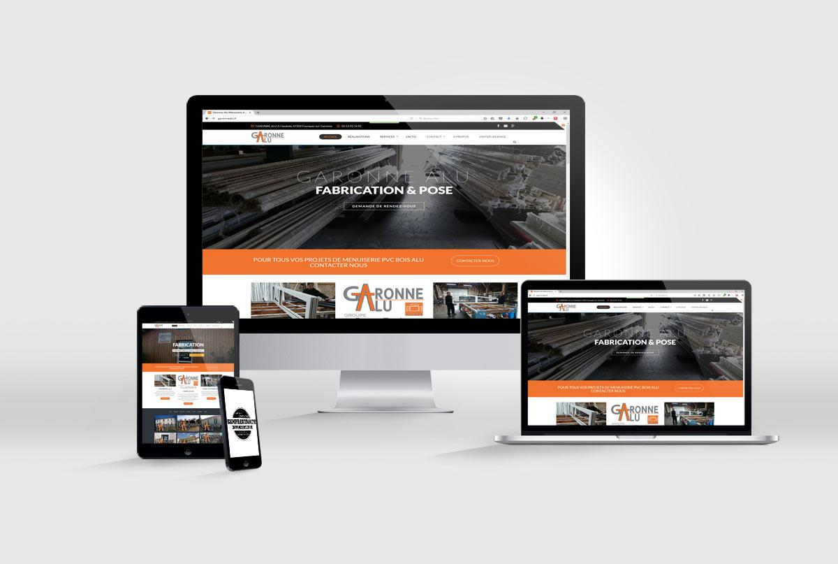 création de site internet Garonne alu